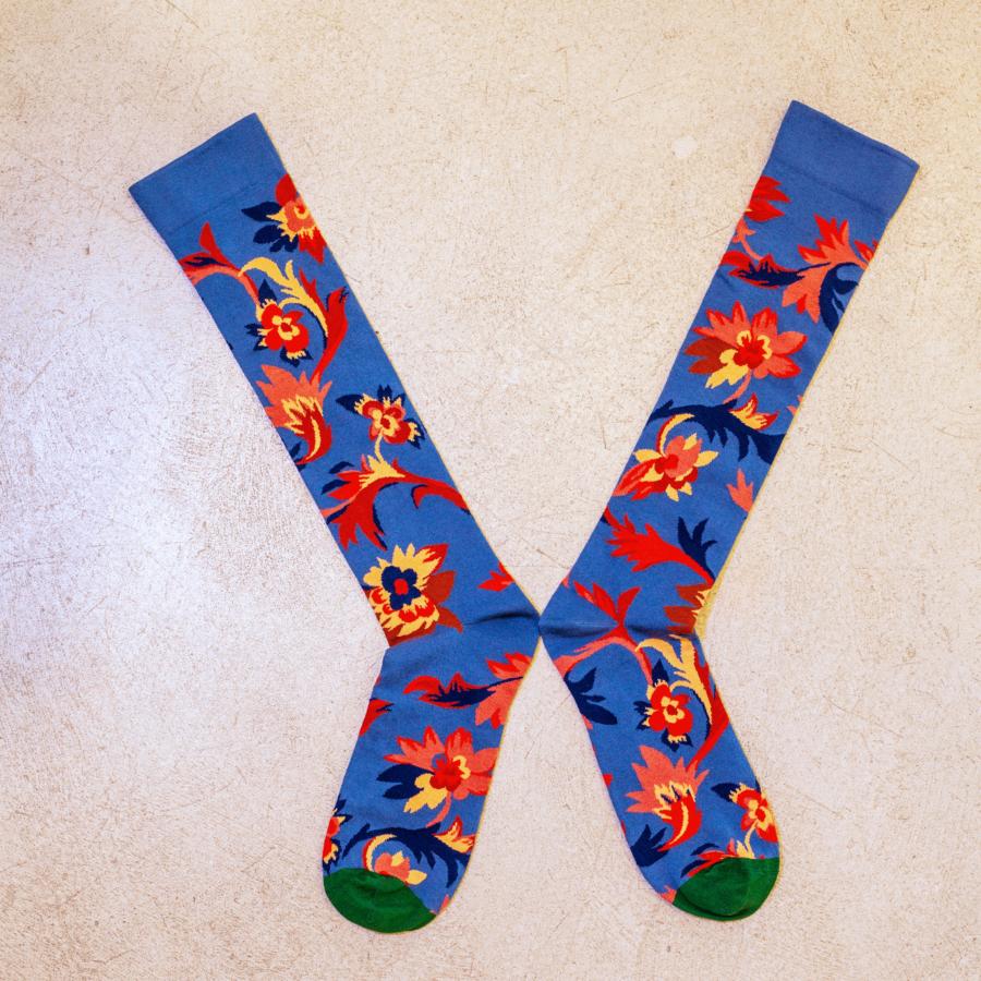 calcetines largos azules