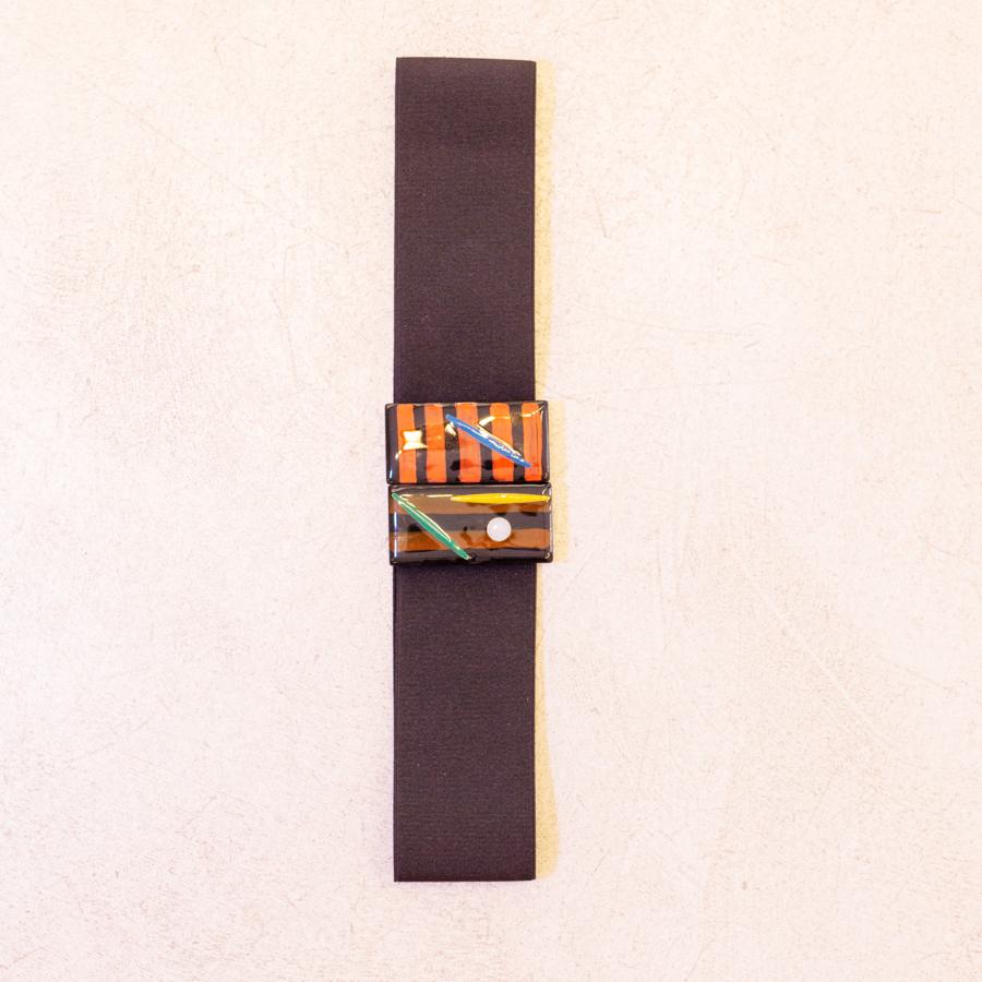 Cinturón elástico negro ancho