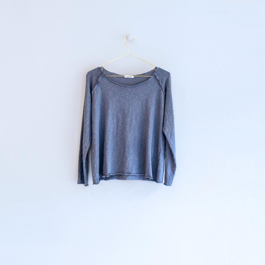 suéter manga ranglan color petróleo Skandal