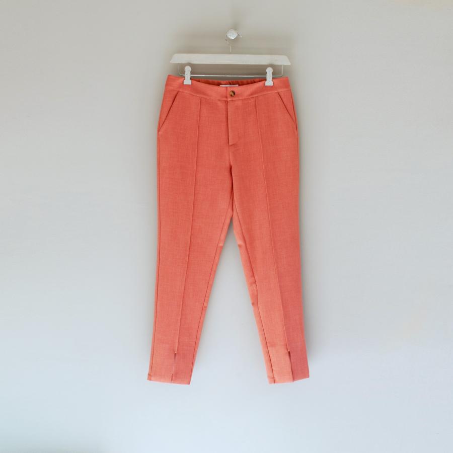 pantalón recto goma cintura