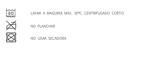 LAVA 30 - NO PLANCHA - NO SECADORA